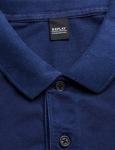 Replay Herren Poloshirt Violett (Dark Violet 567)