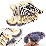 LZYMSZ 18pcs Ensemble de pinceaux de maquillage professionnel trousse de maquillage essentielle avec étui à pinceaux