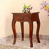 #10: DriftingWood Sheesham Wood Curved Legs End Table For Living Room(Walnut Brown)