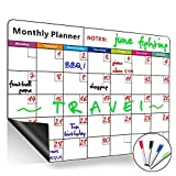 Calendrier mensuel magnétique, effacement à sec, grand tableau blanc multifonctions, planificateur mensuel et hebdomadaire