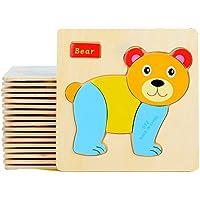 2 paquetes de rompecabezas de madera FomCcu Jigsaw, juguete educativo para niños, un buen regalo - Peluches y Puzzles precios baratos