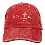 ARTOPB Fashion Baseball Caps Hats Vintage Cap Hat Be Greater Than Average Nerd Math Six-Panel 3D Print Adjustable Baseball Hat for Unisex Black