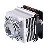 Tesfish Aluminium Kühlkörper Kühlventilator + 44mm Objektiv 60 Grad für 50W 100W LED Licht und Chip