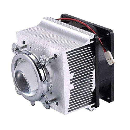 Tesfish Aluminium Kühlkörper Kühlventilator + 44mm Objektiv 120 Grad für 50W 100W LED Licht und Chip -