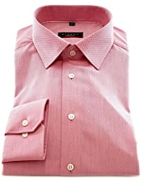 ETERNA Herren Langarm Hemd Modern Fit rosa strukturiert mit Piping 4194.51.X18P