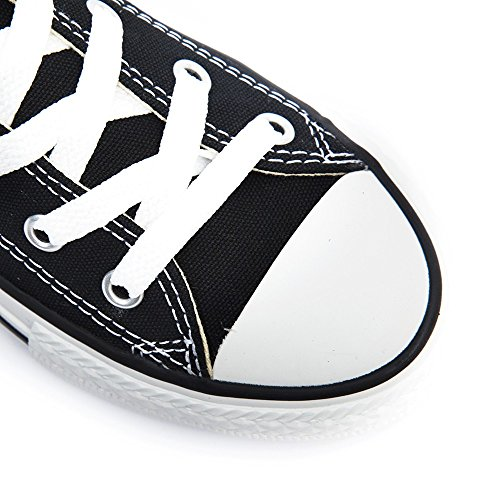 Converse Ctas Season Ox, Baskets mode mixte enfant Noir (Schwarz-Weiß)