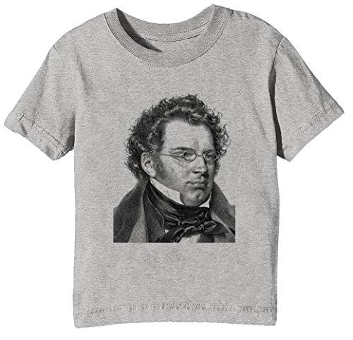 Erido Franz Schubert Kids Unisex Boys Girls T-Shirt Grey Tee Crew Neck Short Sleeves All Sizes