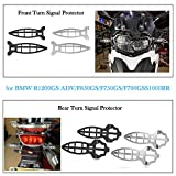 XX eCommerce Blinker Kontrollleuchte Grill Protector Guard for 2010 2011 2012 2013 2014 2015 BMW R1200R F700GS F800GS R1200GS Adventure S1000RR HP4 (Vorne Silber)