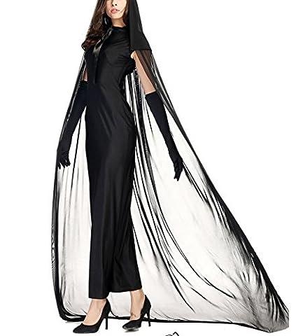 HZHF Halloween Costume foncé Capuche Sorceress hanté Costume pour les