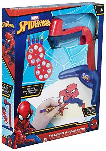 Spiderman spe-4516Evergreen Projektion Licht, Mehrfarbig