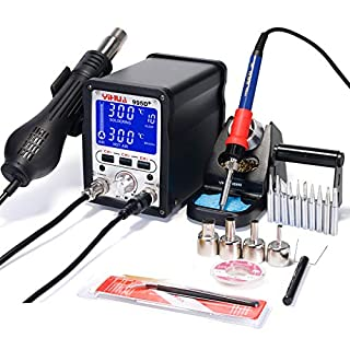 YIHUA 995D+ 2 IN 1 HOT AIR REWORK SOLDERING IRON STATION - MULTIPLE FUNCTIONS UK