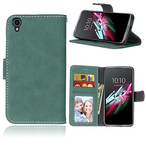 BONROY Case, Alcatel Onetouch Idol 3 (4,7 Zoll) Flip Leather Case, Shockproof Bumper Cover and Premium Wallet Case for Alcatel Onetouch Idol 3 (4,7 Zoll)