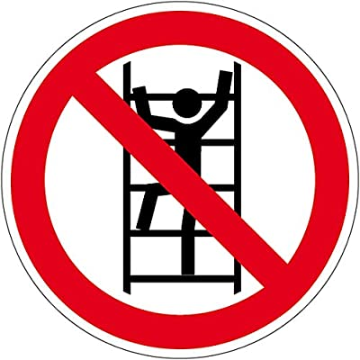 Verbotszeichen - Besteigen für Unbefugte verboten - Selbstklebende Folie