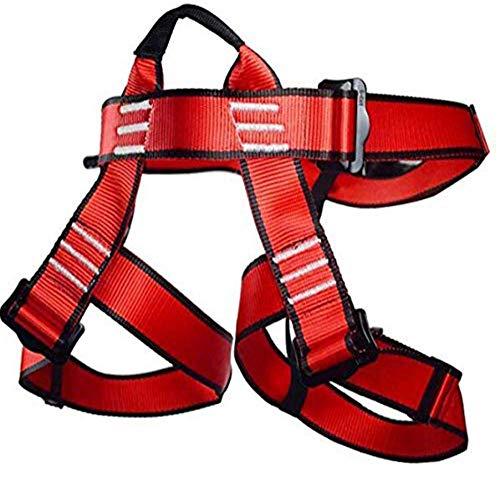 Newdoar, imbracatura da arrampicata, per donne e uomini, per bambini, cintura di sicurezza per alpinismo, arrampicata su roccia, red