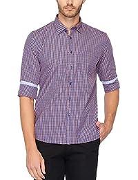 Stop Mens Regular Collar Check Shirt