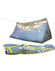 Semptec Urban Survival Technology Survival-Set mit Notfall-Zelt und Folien-Schlafsack
