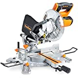 "VonHaus 1500W 8"" (210mm) Sliding Mitre Saw – Sliding Side Support Bars"
