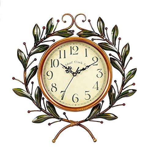 Décoratives En Mute Room Creative Vintage Européen Mffacai Horloge Horloges Murale Murales Living Style Pastorale Reliure Iron 6vIy7gYbf