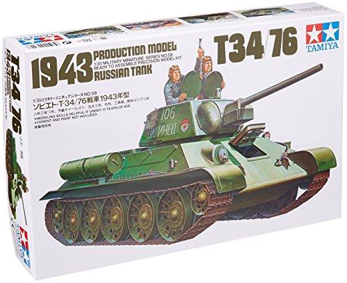 Tamiya 300035059 - modellino di carro armato russo della seconda guerra mondiale t-34/76 (1942/43), scala: 1:35
