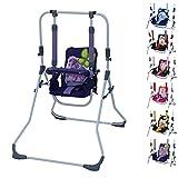 Clamaro 2 in 1 Babyschaukel 'SWING' Indoor Baby Schaukel und Hochstuhl in einem, Sicherheitsgurt mit Bügel, gepolsterter Sitz, kompakt zusammenklappbar - Motiv: Pony