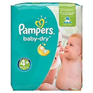 Pampers Baby-Dry Nappies Monthly Saving Pack - Size 4+,( 9-20 kg) Pack of 152