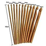 Holz-Häkelnadel, Holzgriff, Bambus, Häkelnadel, Holz, Nähwerkzeug, Nadel, 3-10 mm, 12 Stück Free Size Wood Color
