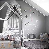 Rund Krabbeldecke Gepolstert Spielmatte Groß Baumwolle Kinderteppich Babyzimmer Dekoration (100 * 100CM, grau)