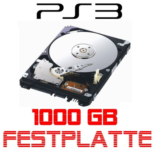 1024GB/1TB, 5400rpm, 128MB Cache für Sony Playstation 3, PS3 passt auch in die PS3 Slim und Superslim ()