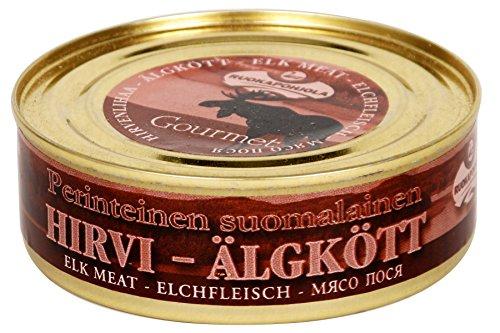Ruokapohjola - Hirvi Konserve mit Elch-Fleisch (Dose 230 g) -