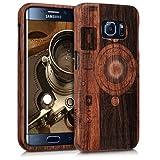 kwmobile Samsung Galaxy S6 Edge Hülle - Handy Schutzhülle aus Holz - Cover Case Handyhülle für Samsung Galaxy S6 Edge