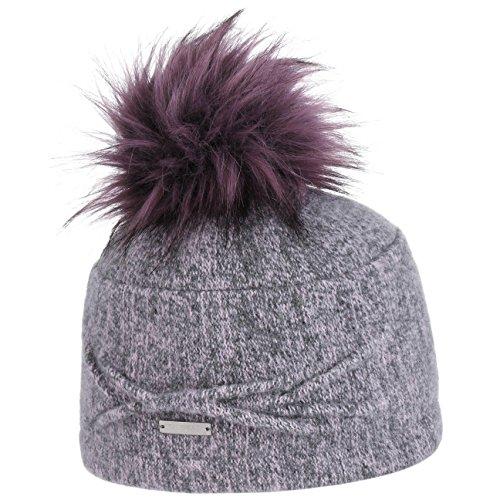 ad077e463f0833 Seeberger Walkmütze mit Pompon Mütze Walktoque Toque Wintermütze Damenmütze  (One Size - rosa-meliert