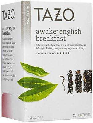 Tazo Teas - Boite de 20 Sachets de Thé Noir - Awake - 1.8 oz (51 g)