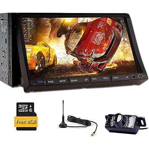 Audio DVD de coches reproductor de m¨²sica BT Monitor de Autoradio 2 DIN universal Automotive radio de coche de v¨ªdeo est¨¦reo RDS En la cubierta de la pantalla LCD de 7