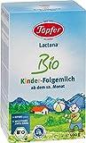Töpfer Lactana Kinder Bio Folgemilch - ab dem 12. Monat, 4er Pack (4 x 500g)