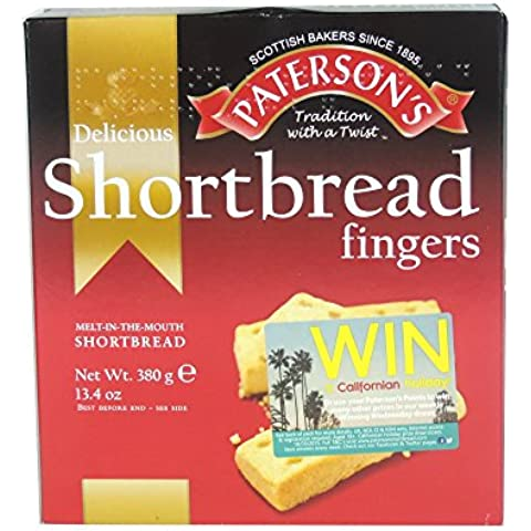 Paterson's - Shortbread Fingers - 380g (Case of (Go Gourmet Coffee)
