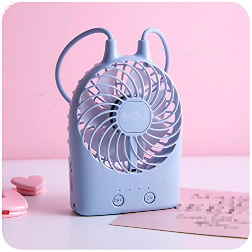 Foto de KWXHG La encantadora mini recargable portátil USB de dibujos animados de ventiladores eléctricos pequeña maleta del albergue es pequeño, aire acondicionado,C