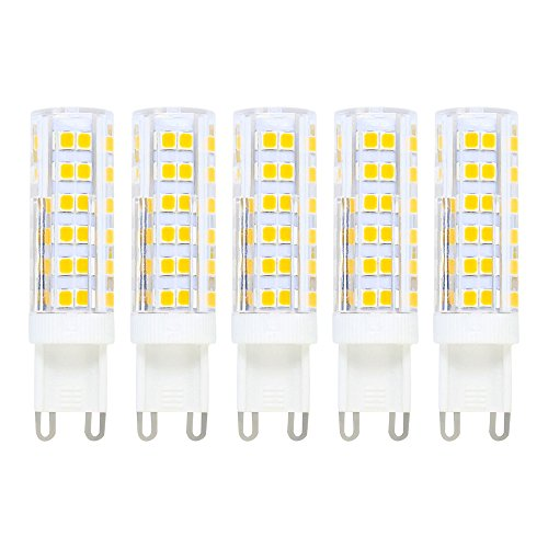 7W G9 LED Lampen, Ersatz für 50W Halogenlampen, 500lm, Warmweiß, 3000K, LED Dekorative Leuchten, LED Birnen, LED Leuchtmittel, 5er Pack -