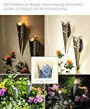 Dekolook Wandkerzenhalter 4er Set Wandteelicht Teelichthalter Gartenstecker Garten Kerzenhalter Wandleucher Milano NEU - 5