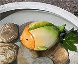 Teichfisch Nemo Keramik orange/creme/grün Breite 19 cm, Fisch, Teich, Gartendeko