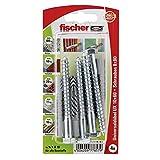 Fischer Universaldübel UX 10 x 60 SK SB-Karte, 4 x 6-kt-Schraube 8 x 80, 077857