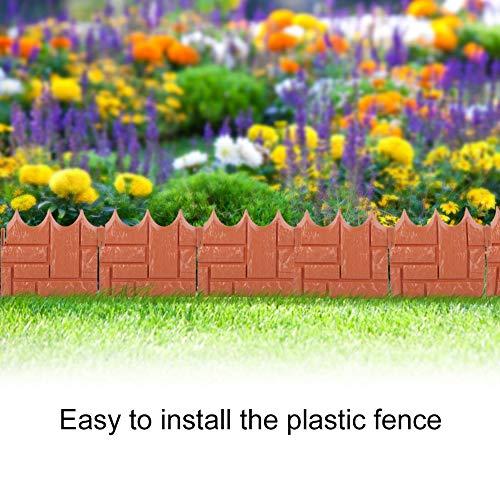 LYN%%LYN Kunststoff Dauerhaft Spleißen Zaun Garten Rasen Schutzwand Grenze Dekor Garten Gewächshaus Gemüse Garten Ornament 0703WL -