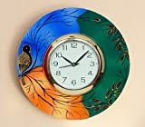 #5: JaipurCrafts Beautiful and Colorful Scenery Wooden Wall Clock ( 12 IN X 12 IN) - For Wall Decoration