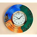 JaipurCrafts Beautiful And Colorful Scenery Wooden Wall Clock ( 12 IN X 12 IN) - For Wall Decoration
