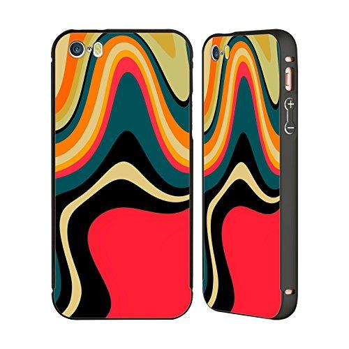 Ufficiale Shelly Bremmer Seriamente Astratto E Vivido Nero Cover Contorno con Bumper in Alluminio per Apple iPhone 5 / 5s / SE Risolvere