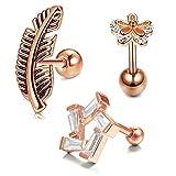 Briana Williams Acier Inoxydable Tragus Stud Helix Cartilage Boucles d'oreilles 16G...