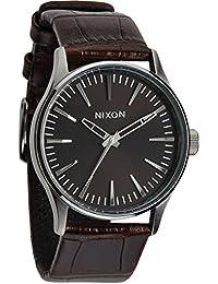 Nixon Herren-Armbanduhr XL Sentry 38 Analog Quarz Leder A3771887-00