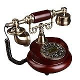 Sam@ Européenne Antique Résine Bois Solitaire Téléphone Mode Créative American Phone Phone Classique Avion (Taille : Solid Wood)