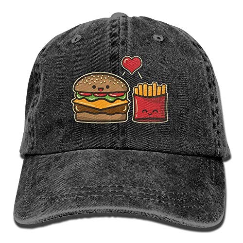 Mabaeson Men&Women Adjustable Denim Jeans Baseball Caps Burger Fries Trucker Cap -