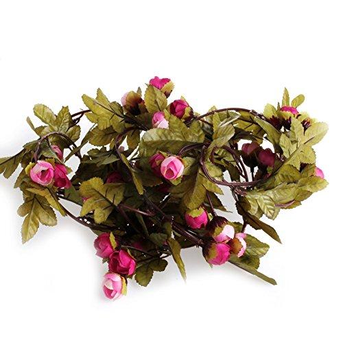 eide Rose Vine Aufhängen Blume Girlande Hochzeit Party Home Decor (Großhandel Tischdecken Für Hochzeiten)