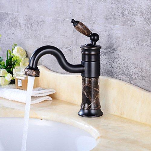 ZCYJL Rubinetto Cucina Lavello Rubinetto lavabo nero retro giada | rubinetto girevole per vasca da bagno | rubinetto da incasso caldo e freddo | rubinetto del lavandino del bagno